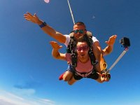 Parachute jump and video
