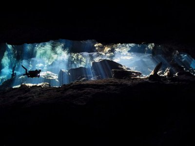 Diving in cenote of Riviera Maya with 1 tank 1 hr
