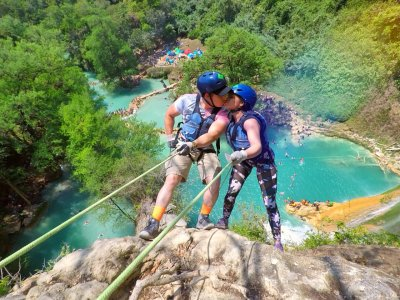 Rappel and jumps in Minas Viejas and Río Micos 7 hrs