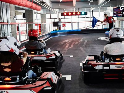 2 Go Kart races in Plaza Carso 1 hour