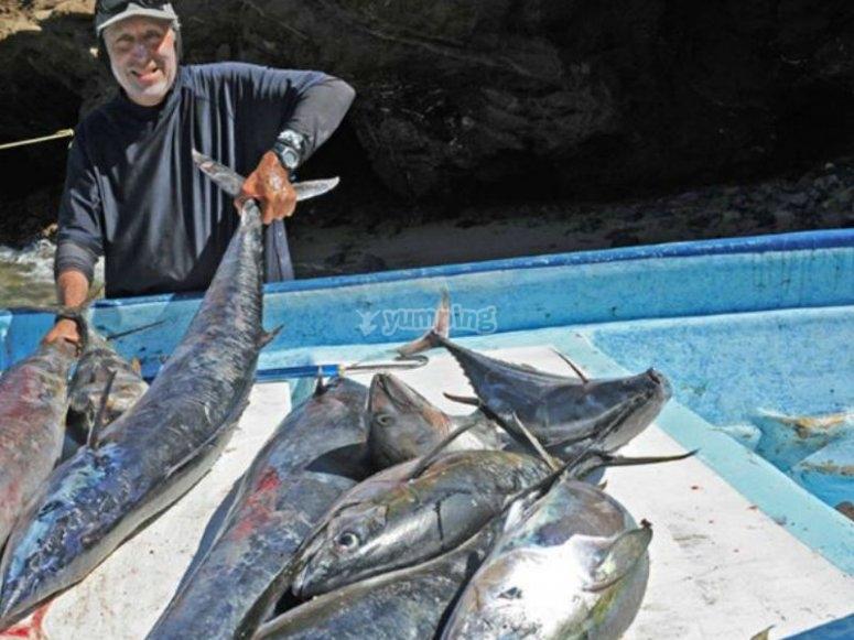 Mostrando la pesca