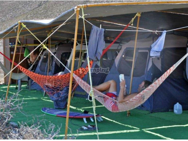 Camp in Baja California Sur