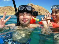 Snorkel in 2 Cabo beaches with transportation 4 hours