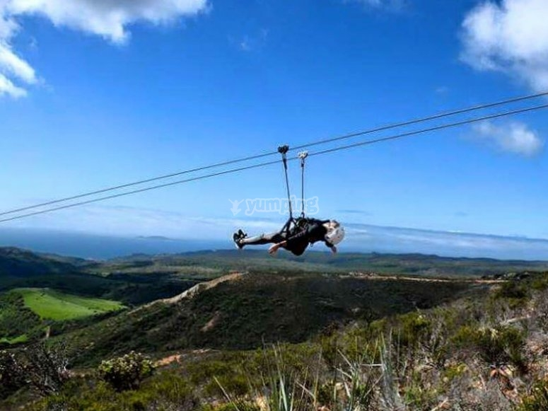 Feel pure adrenaline when you throw yourself off our zipline