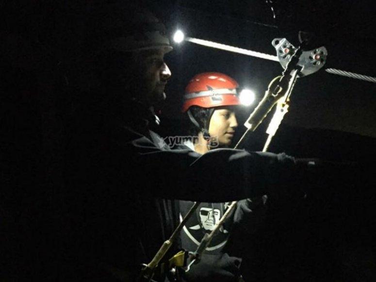 Live the night zipline experience