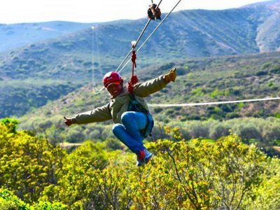Zip line 5 lines in Ensenada 2.5 hours
