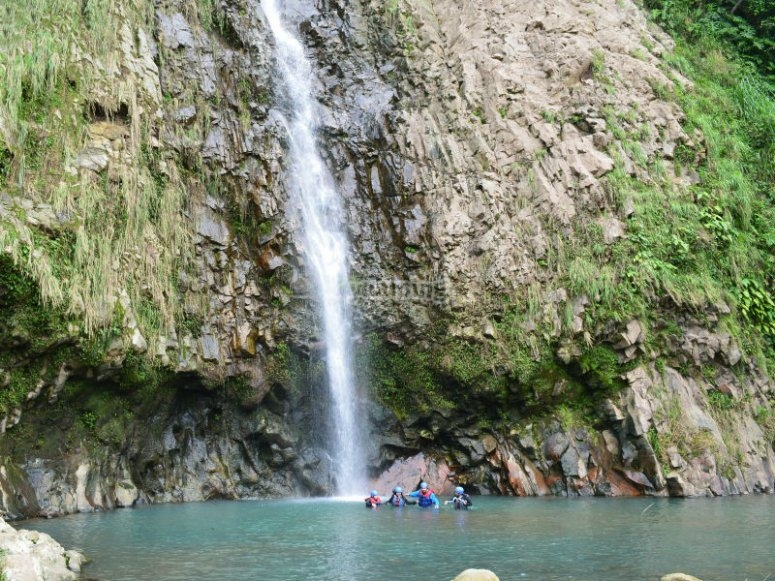 Touring waterfall