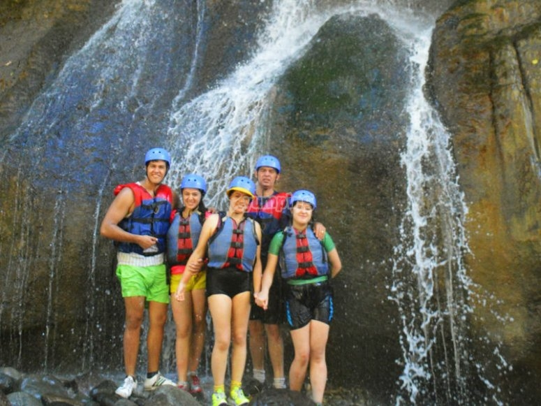 Arriving at the waterfall
