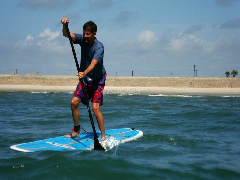 Stand up paddle class in Ensenada