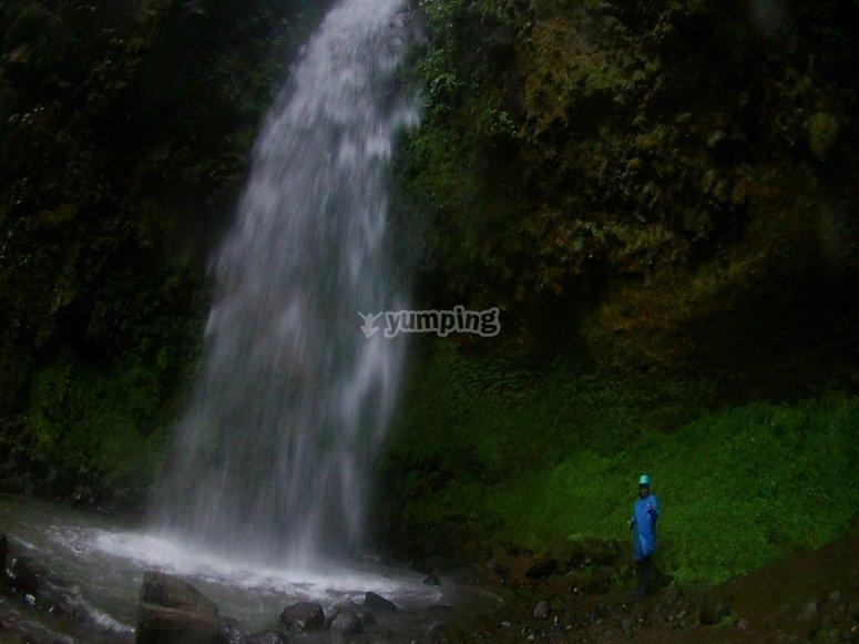 Reaching the waterfall