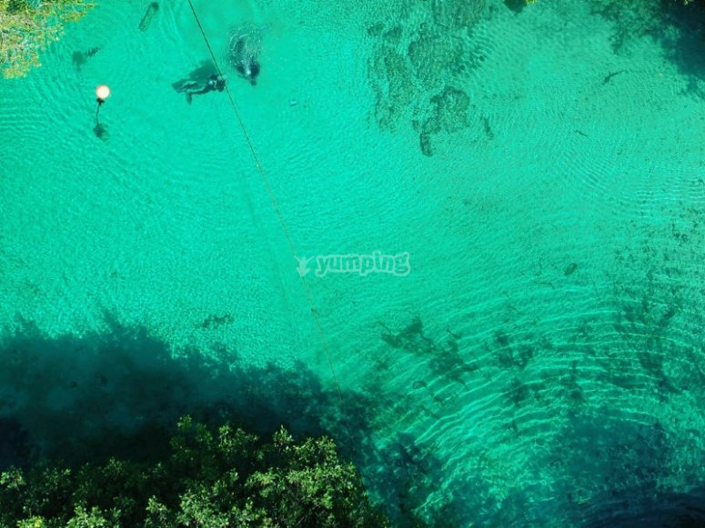 Crystal clear waters of Casa Cenote