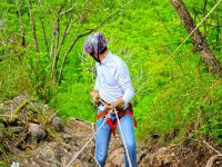 abseiling among nature
