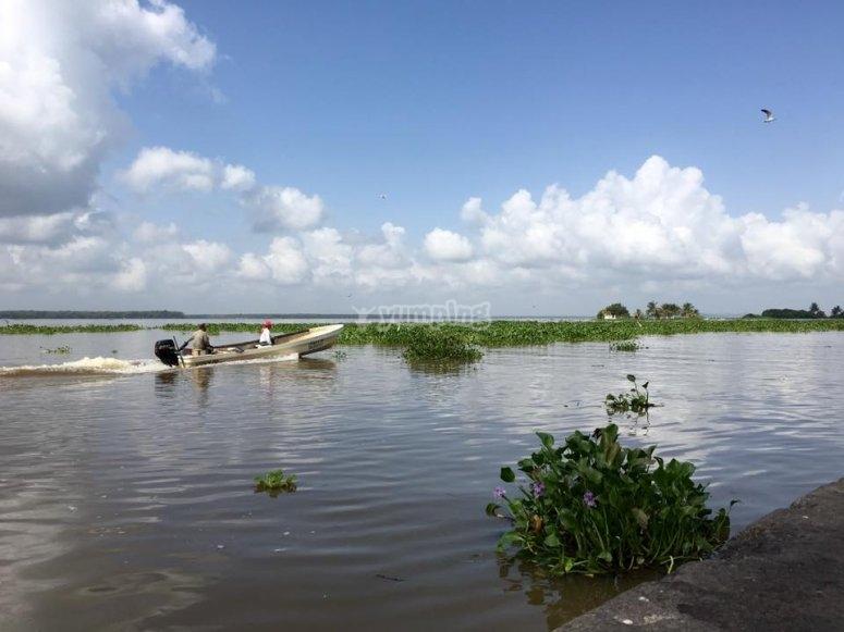 Catemaco lagoon