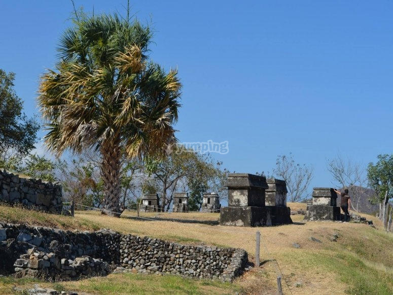 Archaeological zone and buildings