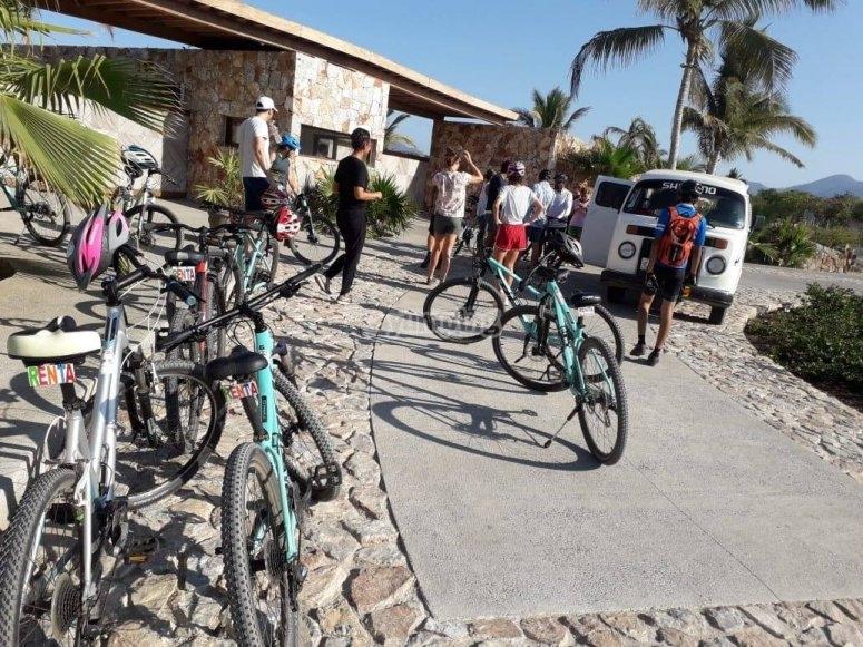 Rentando bicicletas