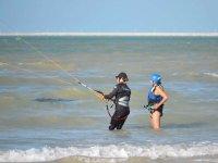 Learn kitesurfing on the beaches of Progreso