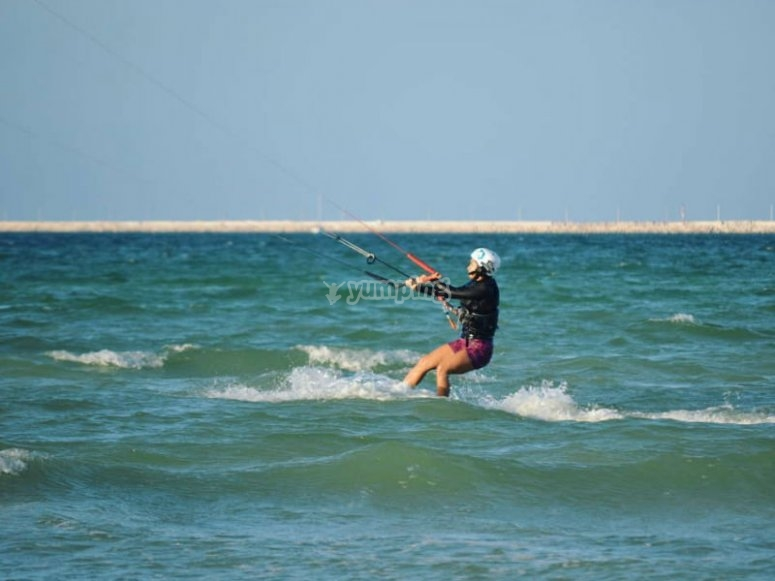 Exercise your body and mind with kitesurfing