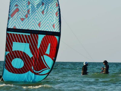 Kitesurf class for groups in Progreso 1h
