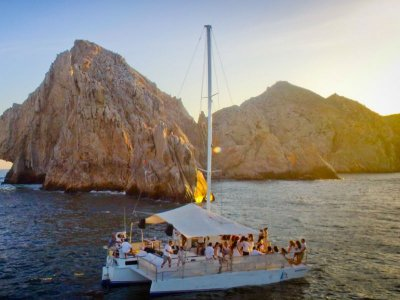 Sunset ride on trimaran in Los Cabos 2hrs