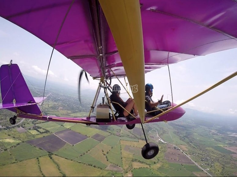 Come fly with us with ultralight