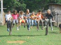 actividades infantiles en el rancho