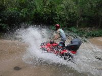 ATV on the river