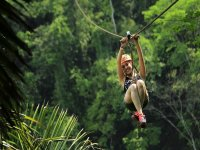 Jump off our zip lines surrounded by nature