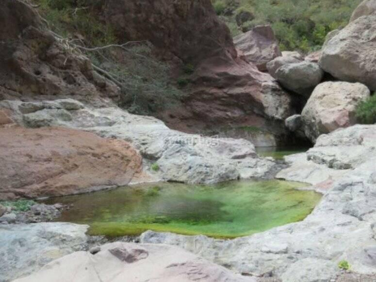 Piscinas en el cañón
