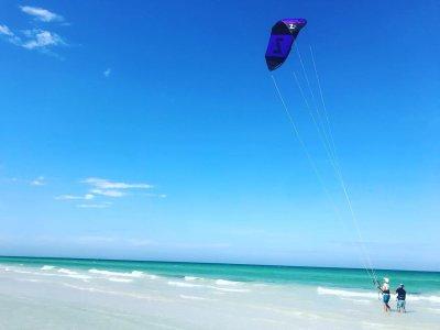 Lección de actualización de kitesurf en El Cuyo 1h