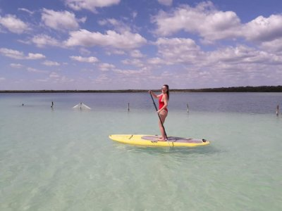 SUP expedition in cenotes of Tulum 6 hours