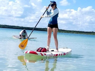 6hrs river and ocean paddle surf adventure