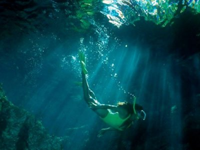 Snorkel in cenote Riviera Maya from Akumal 2 hours