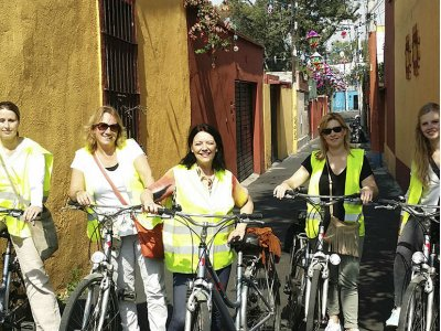 Bike tour through downtown CDMX 4 hours