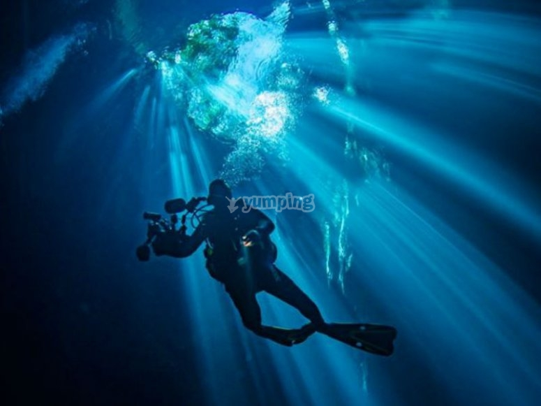 Night dive with us