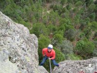 Rappel in the pyramid