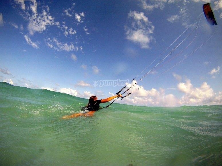 Kite Control en el agua