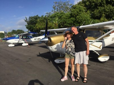 Private plane flight from Cancun to Cozumel