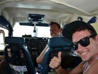 Lección de vuelo en avioneta en Cancún 1 hora