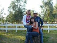 Family at the ranch