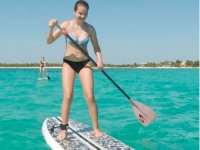 Paddle surfing course in Tulum
