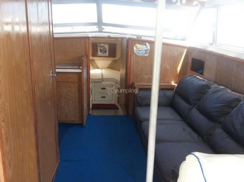 Interior de la embarcación