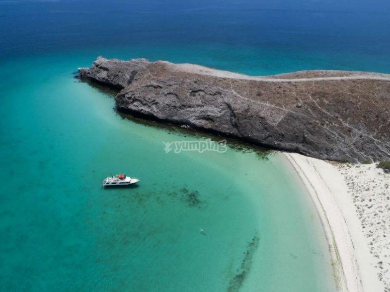 Espectacular vista de Playa Balandra