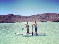 SUP en la paradisíaca playa de Balandra