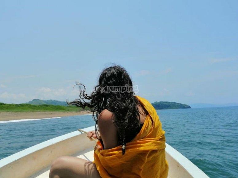 Disfrutando de hermosos paisajes naturales