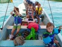 Paseo en lancha y kayak para niños en Catemaco 3 d
