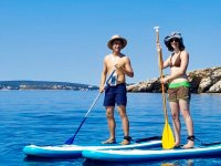 Enjoying the Stand Up Paddle tour as a couple