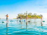 Cross to the Island of Sacrifices doing stand up paddle