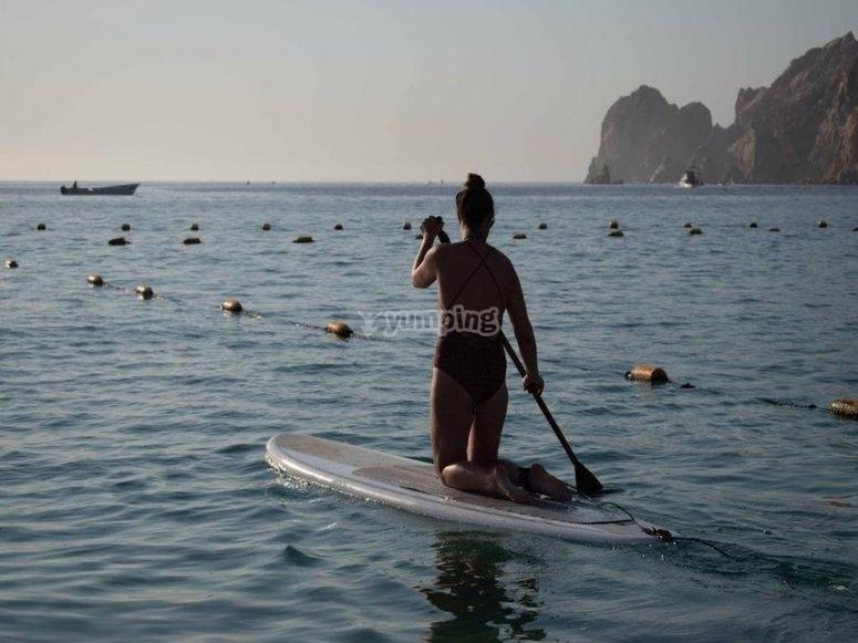 Remando mar de Cortés