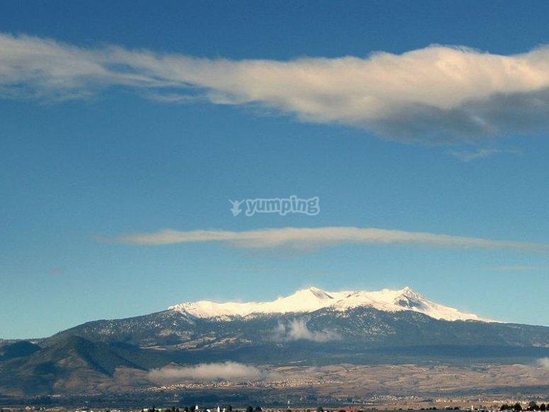 Vista panorámica del Nevado