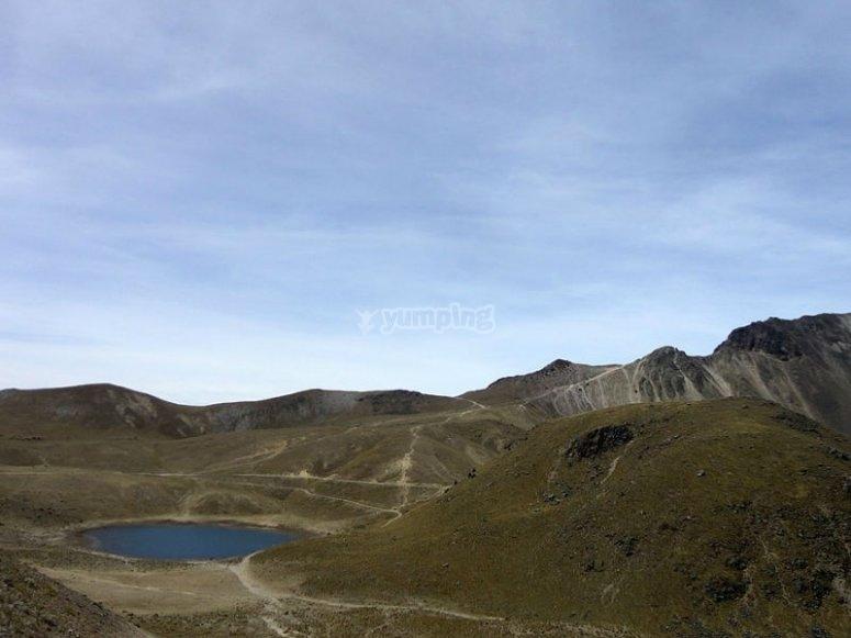 El Nevado y su cráter